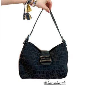 Vintage 🖤 Fendi Zucchino Shoulder Bag